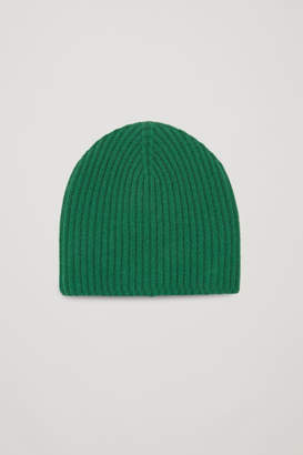 Cos RIBBED CASHMERE HAT
