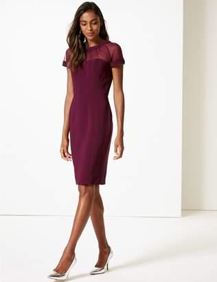 Marks and Spencer Mesh Short Sleeve Bodycon Midi Dress