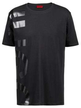 HUGO Boss Oversized-fit T-shirt in cotton large-scale logo L Black