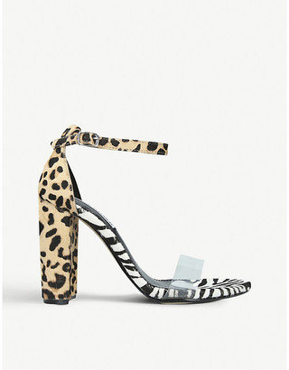 Steve Madden Carrson leopard and zebra-print faux-leather heeled sandals