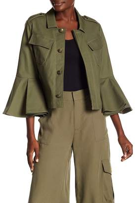 Rachel Roy Utility 3\u002F4 Sleeve Jacket