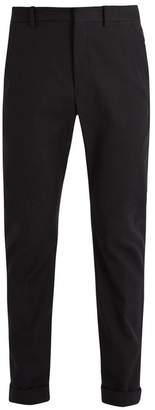 Bottega Veneta Straight Leg Chino Trousers - Mens - Black