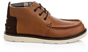 Toms Men's Moc Toe Leather Chukka Boots