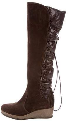 Moncler Quilted Wedge Boots