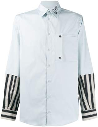 Off-White contrast sleeve shirt