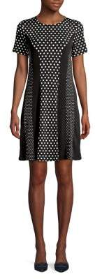 MICHAEL Michael Kors Dotted Combo Short-Sleeve Dress
