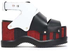 Proenza Schouler Woven Leather Platform Sandals