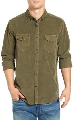 Men's Jeremiah 'Jaymes' Pigment Dyed Corduroy Shirt $88 thestylecure.com