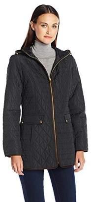 Jones New York Women's Split Diamond Quilted Quilt Jacket $57.03 thestylecure.com