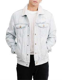 Thrills Destroy Sherpa Wanderer Denim Jacket