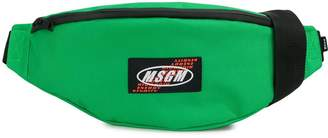 MSGM logo patch belt bag