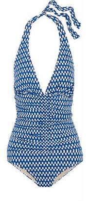 Tart Collections Ruched Printed Halterneck Swimsuit