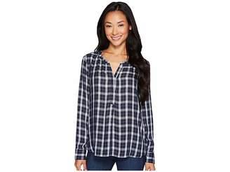 NYDJ Twill Henley Women's Long Sleeve Pullover
