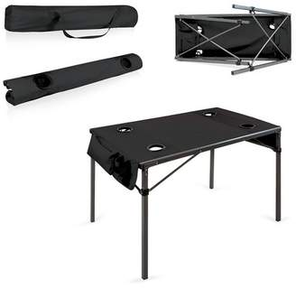 Picnic Time Canvas Travel Table - Black