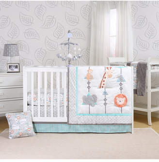 The Peanut Shell The Safari Adventure 3 Piece Crib Set Bedding
