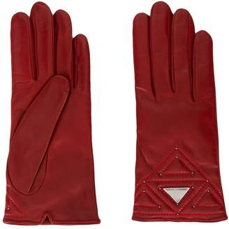 Emporio Armani logo embellished gloves