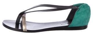 Vicini Suede Flat Sandals