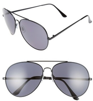 Women's Bp. 65Mm Oversize Aviator Sunglasses - Black/ Black $14 thestylecure.com