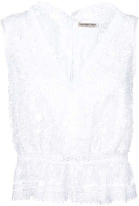 Ermanno Scervino embroidered sleeveless lace top