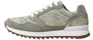 Violeta BY MANGO Leather velvet sneaker