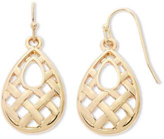 Liz Claiborne Gold-Tone Teardrop Earrings