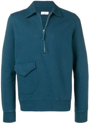Pop Trading Company half-zip fitted sweater