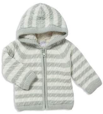 Angel Dear Unisex Sherpa-Lined Knit Jacket - Baby