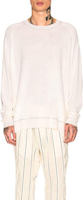 Haider Ackermann Oversized Sweater in Ivory & Black | FWRD
