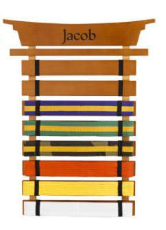 Kid Kraft Personalized Martial Arts Belt Holder Wall Plaque