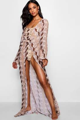 boohoo Tall Snake Ring Detail Maxi Beach Kaftan