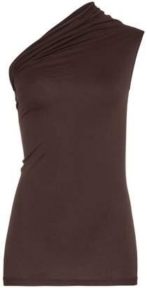 Rick Owens one shoulder cotton vest top