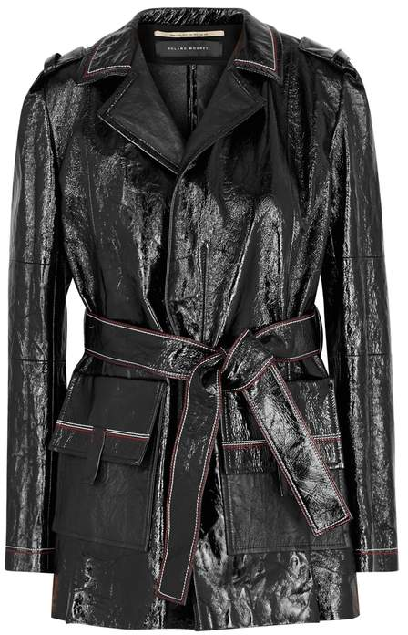 Mocho Black Patent Leather Jacket