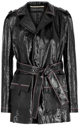 Roland Mouret Mocho Black Patent Leather Jacket