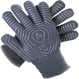 Grill Armor 932F Extreme Heat Resistant Oven Gloves - EN407 Certified BBQ Gloves For Cooking