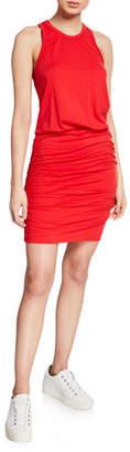 Sundry Ruched Racerback Tank Dress