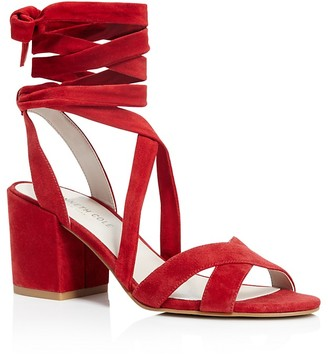 Kenneth Cole Victoria Strappy Lace Up Mid Heel Sandals $130 thestylecure.com