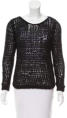 Saint Laurent Wool-Blend Metallic Sweater