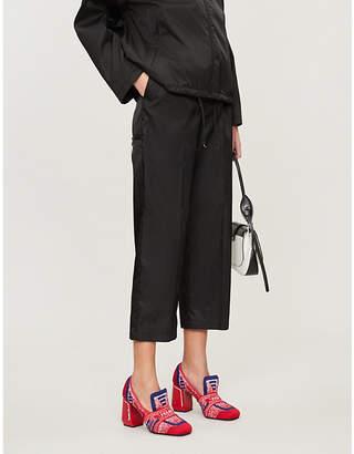 Prada High-rise wide shell trousers