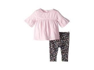 Ralph Lauren Baby Shirred Top Floral Leggings (Infant)