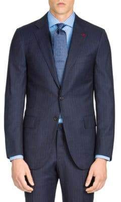 Isaia Regular-Fit Micro Stripe Wool Suit Jacket