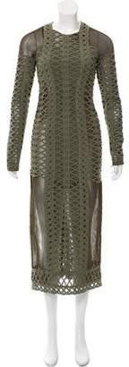 Jonathan Simkhai Mesh Lace-Accented Dress