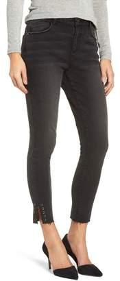 Wit & Wisdom High Waist Stitched Hem Skinny Ankle Jeans (Regular & Petite)