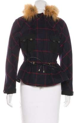 Jason Wu Fur Trimmed Wool Jacket