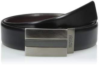 Kenneth Cole New York Kenneth Cole Men's 35 mm Reversible Belt with Plaque Matte Finish