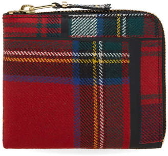 Comme des Garcons Wallet SA3100TP Tartan Patchwork Wallet