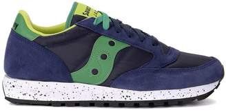 Saucony Jazz Lime And Green Blue Fabric And Suede Sneaker