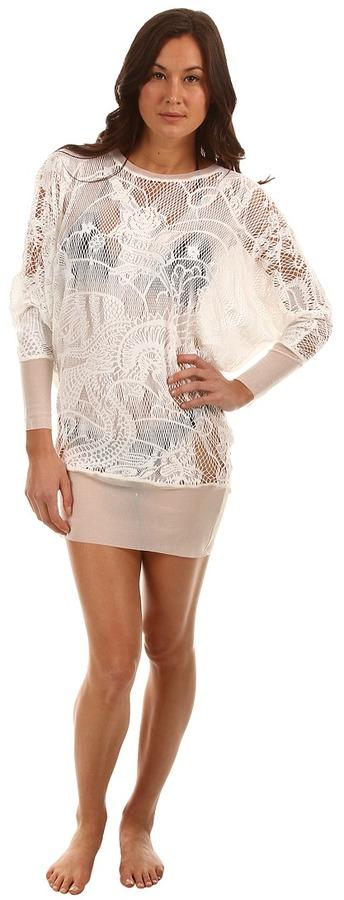 Jean Paul Gaultier Lace L/S Tunic (White) - Apparel