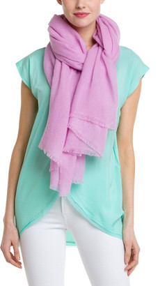 Portolano Women's Cashmere Pink Lavender Scarf