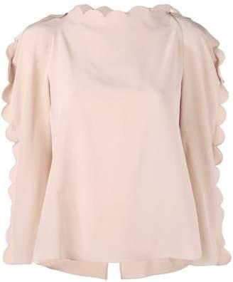 Fendi scalloped blouse