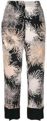 No.21 printed cropped trousers